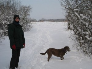 Katie and Susan in the snow